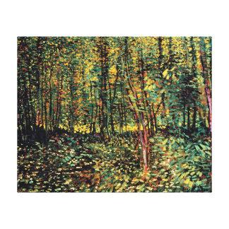 Vincent van Gogh - Bäume und Unterholz-schöne Leinwand Drucke