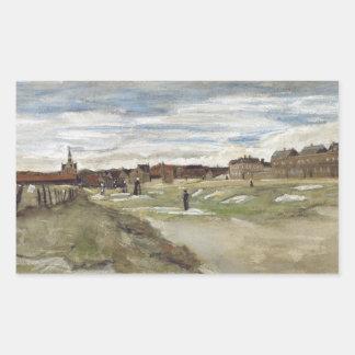 Vincent van Gogh - Bleichboden Rechteckiger Aufkleber