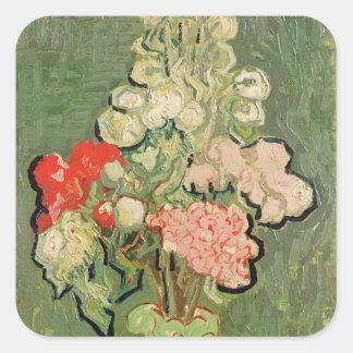 Vincent van Gogh   Blumenstrauß der Blumen, 1890 Quadratischer Aufkleber