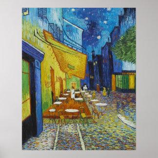 Vincent van Gogh, Cafè Terrasse nachts Poster