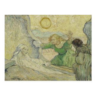 Vincent van Gogh - das Anheben von Lazarus Postkarte