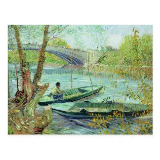 Vincent van Gogh |, das im Früjahr fischt Postkarte