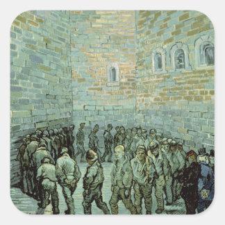 Vincent van Gogh   das Übungs-Yard Quadratischer Aufkleber