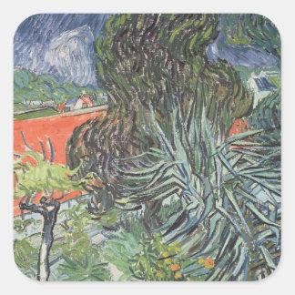 Vincent van Gogh   der Garten von Doktor Gachet Quadratischer Aufkleber