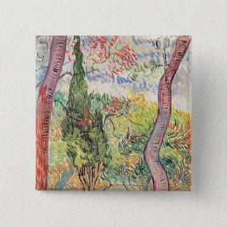 Vincent van Gogh   der Garten von St- Quadratischer Button 5,1 Cm