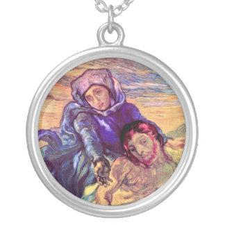 Vincent van Gogh - der Pieta - Jesus u. Jungfrau Versilberte Kette