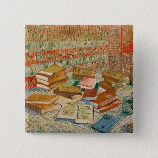 Vincent van Gogh   die gelben Bücher, 1887 Quadratischer Button 5,1 Cm