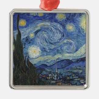 Vincent van Gogh | die sternenklare Nacht, im Juni Silbernes Ornament