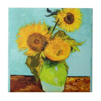 Vincent van Gogh drei Sonnenblumen Keramikfliese