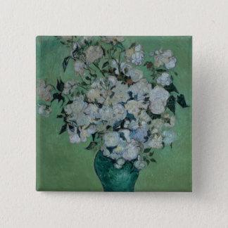 Vincent van Gogh | ein Vase Rosen, 1890 Quadratischer Button 5,1 Cm