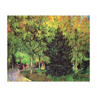 Vincent van Gogh - ein Weg im Allgemeinen Garten Gespannte Galeriedrucke