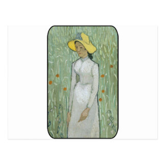 Vincent van Gogh - Frau auf dem Gebiet Postkarte