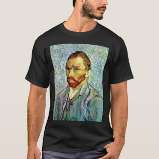 Vincent van Gogh - grüne Selbstporträt-schöne T-Shirt