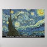 Vincent van Gogh - la nuit étoilée Affiche