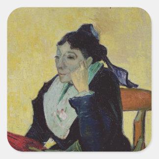 Vincent van Gogh   L'Arlesienne 1888 Quadratischer Aufkleber