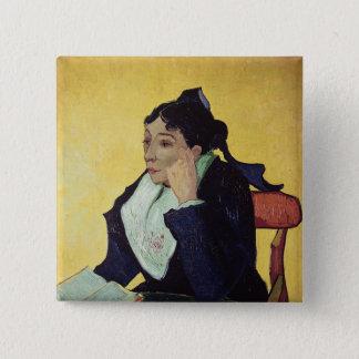 Vincent van Gogh   L'Arlesienne 1888 Quadratischer Button 5,1 Cm