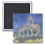Vincent van Gogh | l'église à l'Auvers-sur-Oise Magnet Carré