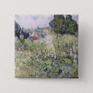 Vincent van Gogh   Mademoiselle Gachet im Garten Quadratischer Button 5,1 Cm