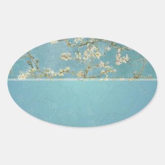 Vincent van Gogh, Mandelblüten Ovaler Aufkleber