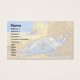 Vincent van Gogh - Mittags-Erholung von der Arbeit Visitenkarte