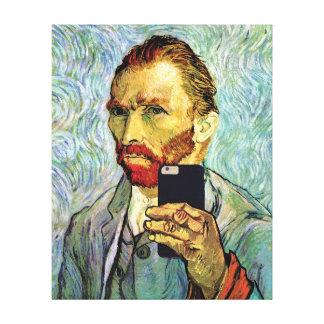Vincent van Gogh-Mobiltelefon Selfie Selbstporträt Gespannte Galeriedrucke