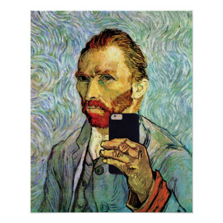 Vincent van Gogh-Mobiltelefon Selfie Selbstporträt Poster