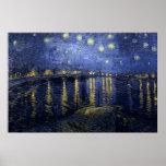 Vincent van Gogh - nuit étoilée au-dessus du Rhône Poster