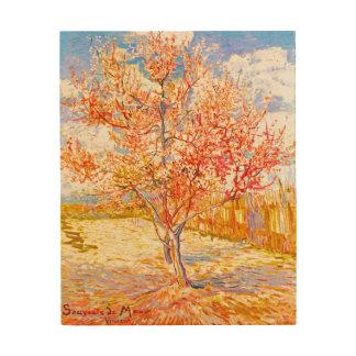 Vincent van Gogh Pfirsich-Baum in der Holzleinwand