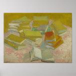 Vincent van Gogh - piles des romans français Poster