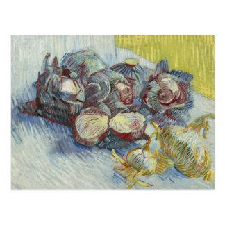 Vincent van Gogh - Rotkohl und Zwiebeln Postkarte