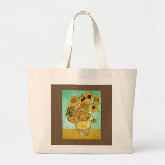Vincent van Gogh - Sonnenblume-Tasche Jumbo Stoffbeutel