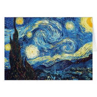 Vincent van Gogh - sternenklare Nacht Karte