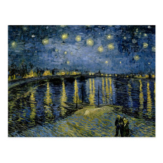 Vincent van Gogh - sternenklare Nacht Postkarte