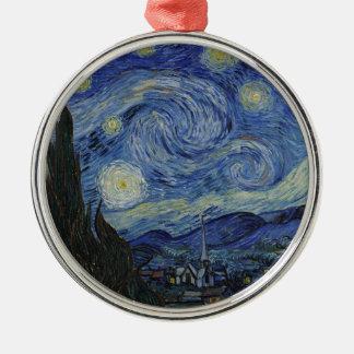 Vincent van Gogh - sternenklare Nacht. Silbernes Ornament