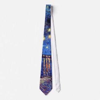 Vincent van Gogh - sternenklare Nacht über der Individuelle Krawatten