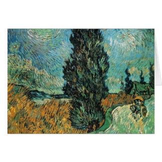 Vincent van Gogh - Straße mit Zypresse und Stern Karte