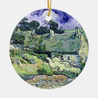 Vincent van Gogh | Thatched Hütten bei Cordeville Keramik Ornament