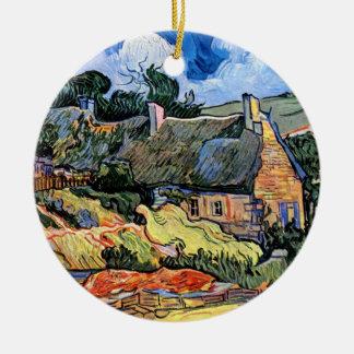 Vincent van Gogh - Thatched Hütten bei Cordeville Keramik Ornament