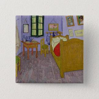 Vincent van Gogh   Van Gogh Schlafzimmer bei Arles Quadratischer Button 5,1 Cm