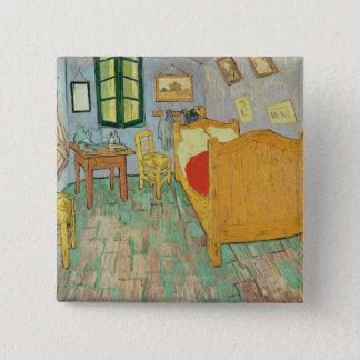 Vincent van Gogh | Van Gogh Schlafzimmer bei Arles Quadratischer Button 5,1 Cm