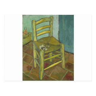 Vincent van Gogh - Van Gogh Stuhl mit Rohr Postkarte