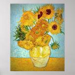 Vincent van Gogh - vase avec 12 tournesols Poster