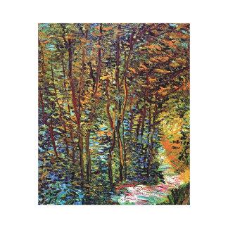 Vincent van Gogh - Weg in der Holz-schönen Kunst Gespannte Galerie Drucke