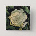 Vincent van Gogh weiße Rosen-Rosen-Vintage Kunst Quadratischer Button 5,1 Cm