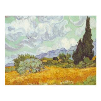 Vincent van Gogh - Weizen-Feld mit Zypressen Postkarte