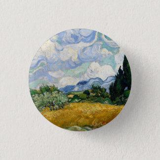 Vincent van Gogh-Weizen-Feld mit Zypressen Runder Button 2,5 Cm
