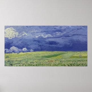Vincent van Gogh   Wheatfields unter Thundercloud Poster