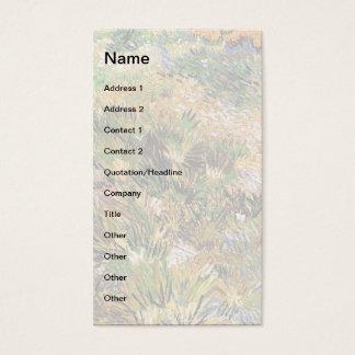 Vincent van Gogh - Wiese in der Garten-schönen Visitenkarte