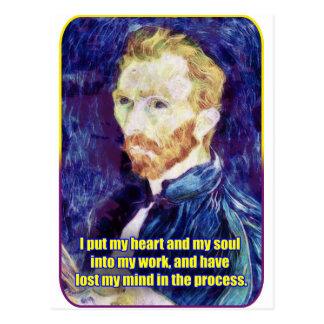 Vincent van Gogh - Zitat Postkarte