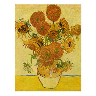 "Vincent van Goghs ""Sonnenblume-"" Postkarte"